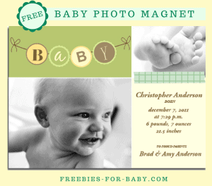 FREE 4x6 Baby Photo Magnet from York Photo - $3.99 value!